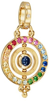 Temple St. Clair Mixed Sapphire & 18K Yellow Gold Dual Ring Pendant