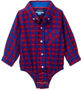 Andy & Evan Red Check Flannel Bodysuit (Baby Boys)
