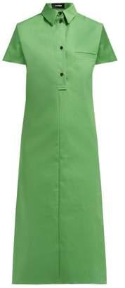 Kwaidan Editions Bonded Cotton Blend Shirtdress - Womens - Green