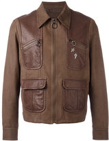 Neil Barrett leather jacket with pins - men - Leather/Cupro - M