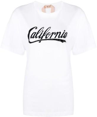 No.21 California print T-shirt