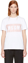 MSGM White Box Logo T-Shirt