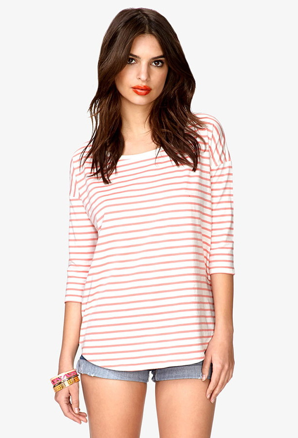 Forever 21 Boxy Striped Top