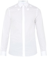 Givenchy Single-cuff star-embroidered cotton shirt