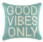The Well Appointed House Seafoam Green Good Vibes Only Pillow -