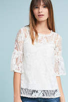 Blue Tassel Daisy Lace Top