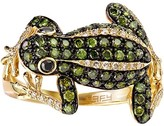 Effy Jewelry Effy Nature Yellow Gold Green, White & Black Diamond Frog Ring, 0.92 TCW