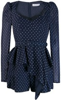 Self-Portrait Self Portrait polka dot playsuit
