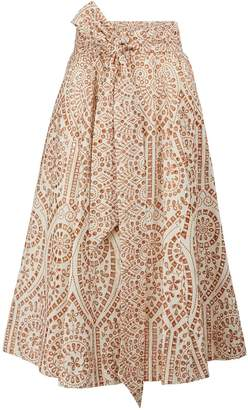 Lisa Marie Fernandez Cotton midi skirt