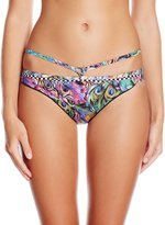 Agua Bendita Women's Exotic Animal Especie Hand-Embroidered Bikini Bottom