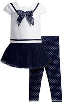 Sweet Heart Rose Sweetheart Rose Girls 2-6x Three-Piece Sailor Top, Skirt Dress and Leggings Set