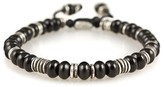 M. Cohen Templar Sterling Disc And Stacked Gemstone Bracelet
