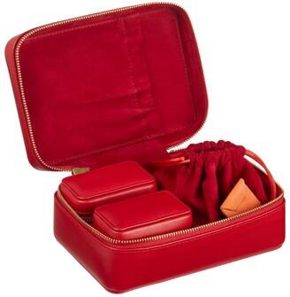 Stow Leather Amelia Three-Piece Jewellery Case