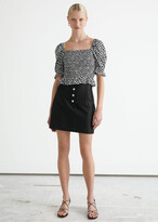 Thumbnail for your product : And other stories Fitted Tailored Linen Mini Skirt