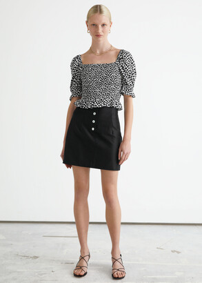 And other stories Fitted Tailored Linen Mini Skirt
