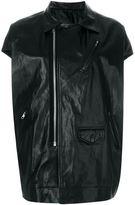 Rick Owens oversized biker gilet - women - Cotton/Leather/Cupro/Viscose - 42