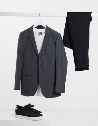 Esprit slim fit suit jacket in grey