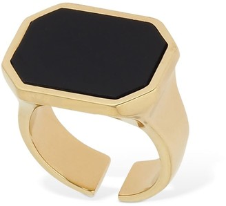 Isabel Marant GOLDEN MOTHER SQUARED RING W/ STONE