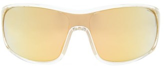 Moncler Mirrored-lens Logo-stripe Acetate Cycle Sunglasses - Yellow
