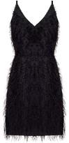 Undress Nina Black Metallic Faux Feather Mini Dress