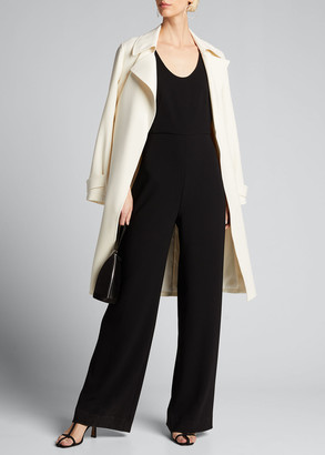 Theory Seamed Scoop-Neck Jumpsuit