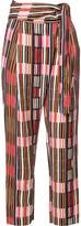 Apiece Apart printed wrap pants - women - Linen/Flax/Tencel - 8