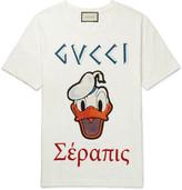 Gucci Disney Appliquéd Printed Cotton-Jersey T-Shirt