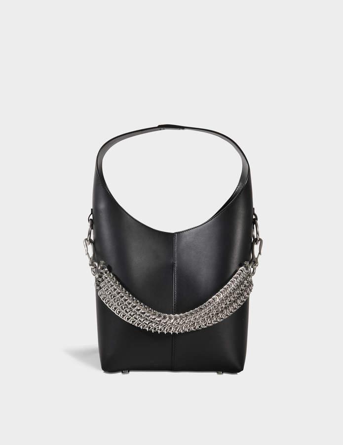 Alexander Wang Genesis Mini Hobo Bag in Black Calfskin