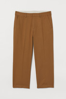 H&M Ankle-length Cotton Chinos - Beige