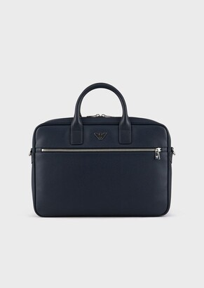 Emporio Armani Briefcase With Eagle Plate
