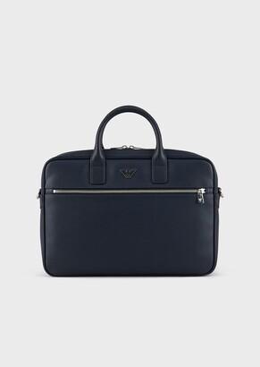 Emporio Armani Briefcase With Eagle Plate