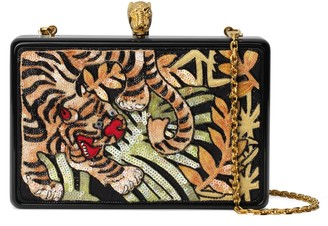 Gucci Broadway bag with tiger embroidery