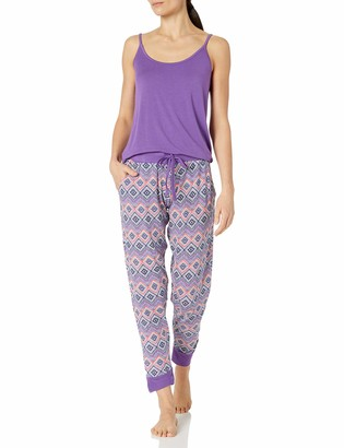 Bottoms Out Women's Cami and Printed Modal Jogger Sleep Set