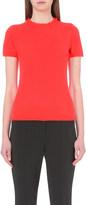 Armani Collezioni Frilled-neck cashmere top
