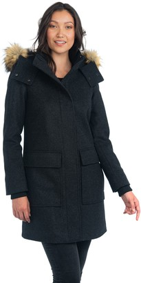 Nuage Italian Wool Cashmere Blend Coat