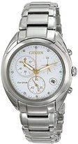 Citizen Eco-Drive Women's FB1390-53A Celestial Analog Display Silver Watch