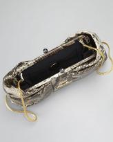 Love Moschino Bow Frame Clutch Bag, Python