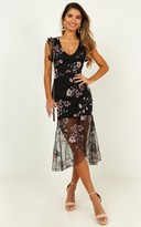 Showpo Remember The Days Dress In Black Embroidery - 16 (XXL) Dresses