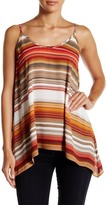 Karen Kane Striped Handkerchief Tank