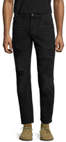 7 For All Mankind Slimmy Rip and Repair Slim Fit Jeans