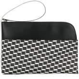 Pierre Hardy cube print clutch bag