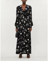 Kitri Aurora star-print woven maxi dress