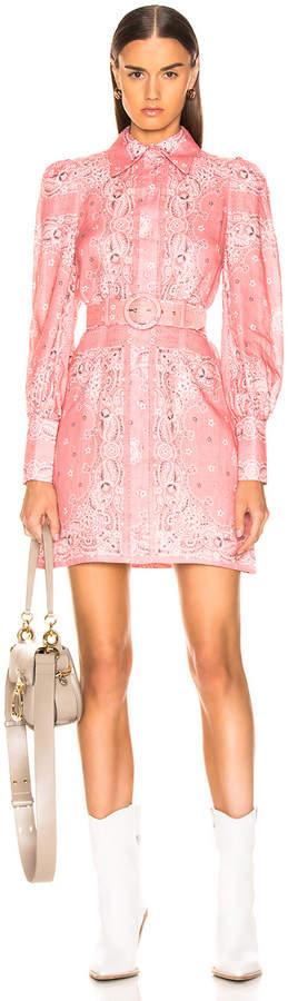 Zimmermann Heathers Shirt Dress in Bandana Print | FWRD