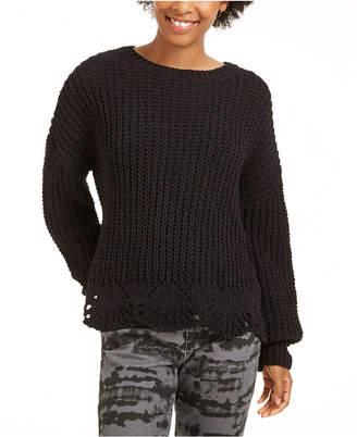 Wynter Pointelle Hem Chenille Sweater