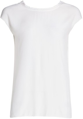 Piazza Sempione Beaded Shell Top