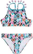 OndadeMar Geometric-Pattern Tassel-Embellished Two-Piece Swimsuit