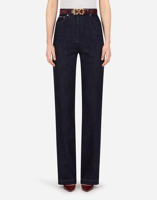 Dolce & Gabbana Flared Deep Blue Denim Jeans