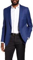 BOSS Ben Slim Fit Windowpane Wool Sport Coat