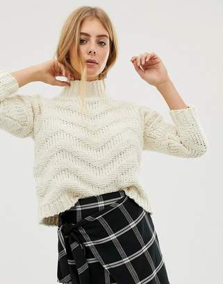 Raga Madeline high neck knit jumper-White