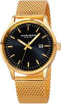 Akribos XXIV Mens Gold Tone Bracelet Watch-A-901ygb